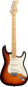 Musical Instruments:Electric Guitars, 1993 Fender Stratocaster Sunburst Solid Body Electric Guitar, Serial #N3153643.. ...