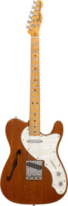 Musical Instruments:Electric Guitars, circa 1974 Fender Telecaster Thinline Mahogany Semi-Hollow Body Electric Guitar, Serial # N/A.. ...