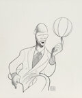 Works on Paper, Al Hirschfeld (American, 1903-2003). Michael Jordan, Entertainment Weekly interior illustration, October 22, 1993. Pen a...