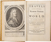 [Jonathan Swift]. Travels into Several Remote Nations of the World. In Four Parts. By Lemuel... (Total: 4)