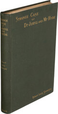 Books:Literature Pre-1900, Robert Louis Stevenson. Strange Case of Dr Jekyll and Mr Hyde. New York: Charles Scribner's Sons, 1886. First editio...