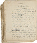 Books:Mystery & Detective Fiction, [Cyril Hare]. [An English Murder]. [London: n.d., ca. 1951]. Original Holograph Manuscript. Written in black i...