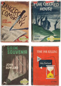 Books:Mystery & Detective Fiction, John Rowland. Group of Four Inscribed First Edition Titles, all to Fellow Writer John Gawsworth (pseudonym for Terence Ian Fyt... (Total: 4 )