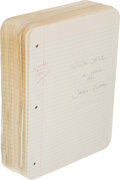 Books:Mystery & Detective Fiction, James Ellroy. White Jazz. Original holograph manuscript, signed. 1992. ...