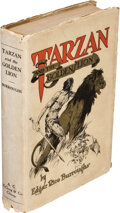Books:Science Fiction & Fantasy, Edgar Rice Burroughs. Tarzan and the Golden Lion. Chicago: A. C. McClurg & Co., 1923. First edition....