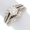 Estate Jewelry:Rings, Diamond, White Gold Ring Set . ... (Total: 2 Items)