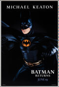 "Movie Posters:Action, Batman Returns (Warner Bros., 1992). Rolled, Very Fine+. Printer's Proof One Sheets (2) (28"" X 41"") SS Advance, Batman & Cat... (Total: 2 Items)"