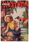 Pulps:Western, Speed Western Stories - January 1943 (Trojan Publishing) Condition: FN....