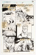 Original Comic Art, Greg Capullo and Richard Bennett X-Force #24 Story Page 5 Original Art (Marvel, 1993)....