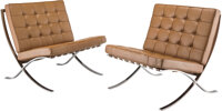 Ludwig Mies van der Rohe (German, 1886-1969) Pair of Barcelona Chairs, designed 1929, produced circa 19