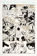 Original Comic Art, Marc Silvestri and Dan Green Wolverine #46 Story Page 13 Original Art (Marvel, 1991)....
