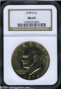 Eisenhower Dollars: , 1978-D MS65 NGC. ...