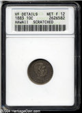 Coins of Hawaii: , 1883 Hawaii Ten Cents Fine12 ANACS. ...