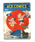 Golden Age (1938-1955):Cartoon Character, Ace Comics #16 (David McKay Publications, 1938) Condition: GD. JoeMusial cover. Overstreet 2004 GD 2.0 value = $39....