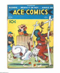 Ace Comics #19 (David McKay Publications, 1938) Condition: VG. Joe Musial cover. Overstreet 2004 VG 4.0 value = $78