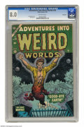 Golden Age (1938-1955):Horror, Adventures Into Weird Worlds #26 Bethlehem pedigree (Atlas, 1954)CGC VF 8.0 Off-white pages. Joe Maneely cover art. Dick Ay...