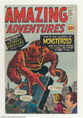 Silver Age (1956-1969):Horror, Amazing Adventures #5 (Marvel, 1961) Condition: VG. Jack Kirbycover. Steve Ditko, Dick Ayers, and Don Heck art. Overstreet ...