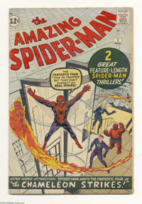 The Amazing Spider-Man #1 (Marvel, 1963) Condition: VG-. Marvel's most famous and enduring character debuted in his own...