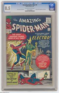 The Amazing Spider-Man #9 (Marvel, 1964) CGC VF+ 8.5 Off-white to white pages. This issue features the first appearance...