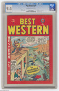 Golden Age (1938-1955):Western, Best Western #58 (Marvel, 1949) CGC NM 9.4 Off-white to white pages. First issue. Two-Gun Kid, Black Rider, and Kid Colt sto...