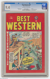 Best Western #58 (Marvel, 1949) CGC NM 9.4 Off-white to white pages. First issue. Two-Gun Kid, Black Rider, and Kid Colt...