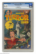 Golden Age (1938-1955):Horror, Beware Terror Tales #7 Bethlehem pedigree (Fawcett, 5/53) CGC FN+6.5 Off-white pages. A lord of the skulls terrorizes a fem...