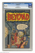 Golden Age (1938-1955):Horror, The Beyond #5 Bethlehem pedigree (Ace, 1951) CGC VF+ 8.5 Off-whitepages. On this cover, the keeper of time runs the clock o...