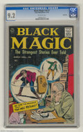 Silver Age (1956-1969):Horror, Black Magic V8#1 Bethlehem pedigree (Prize, 1961) CGC NM- 9.2Off-white pages. Highest grade yet assigned by CGC for this is...
