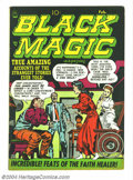 Golden Age (1938-1955):Horror, Black Magic V2#3 (Prize, 1952) Condition: VF-. Jack Kirby cover.Overstreet 2004 VF 8.0 value = $157.