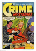 Golden Age (1938-1955):Horror, Crime Mysteries #15 (Ribage Publishing, 1954) Condition: VG+. Acidin the face cover. H.C. Hollingsworth cover and art. Over...