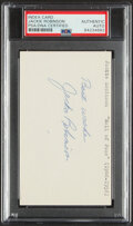 Autographs:Index Cards, Jackie Robinson Signed Index Card, PSA/DNA Authentic....