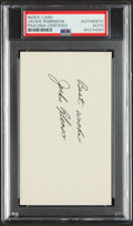 Autographs:Index Cards, Jackie Robinson Signed Index Card, PSA/DNA Authentic. ...