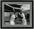 Autographs:Photos, Mickey Mantle & Hank Aaron Signed Oversized Photograph. ...