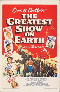 """The Greatest Show on Earth (Paramount, 1952). Folded, Very Fine+. One Sheet (27"""" X 41""""). Drama"""