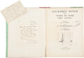 Books:Signed Editions, A. A. Milne. Fourteen Songs. New York: E. P. Dutton & Company, [1925]. Early American edition. Signed on the tit...