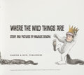 Books:Children's Books, Maurice Sendak. Where the Wild Things Are. [New York]: Harper & Row, [1988]. 25th Anniversary Limited Edition, #70/2...