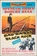 """Movie Posters:Thriller, Bad Day at Black Rock (MGM, 1955). Folded, Very Fine+. One Sheet (27"""" X 41""""). Thriller.. ..."""