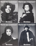 Movie Posters:Miscellaneous, Blackglama by Richard Avedon and Bill King (Great Lakes Mink Association, 1980s). Overall: Very Fine+. Advertising Posters (... (Total: 9 Items)