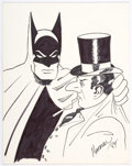 Original Comic Art:Illustrations, Marshall Rogers - Batman and Penguin Specialty Illustration Original Art (1984)....
