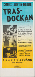 "Movie Posters:Film Noir, The Night of the Hunter (United Artists, 1955). Folded, Very Fine/Near Mint. Swedish Insert (12.5"" X 27.5""). Film Noir.. ..."