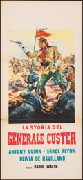 """Movie Posters:Western, They Died with Their Boots On (Warner Bros., R-1963). Folded, Very Fine-. Italian Locandina (13"""" X 27.75""""). G. Di Stefano Ar..."""