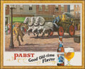 "Movie Posters:Miscellaneous, Pabst: Good Old-Time Flavor (Pabst Brewing Company, 1950s). Rolled, Very Fine+. Advertising Poster (59"" X 48""). Miscellaneou..."