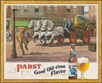 "Pabst: Good Old-Time Flavor (Pabst Brewing Company, 1950s). Rolled, Very Fine+. Advertising Poster (59"" X 48"")..."