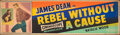 "Movie Posters:Drama, Rebel Without a Cause (Warner Bros., 1955). Rolled, Fine. Silk Screen Banner (24"" X 82""). Drama.. ..."
