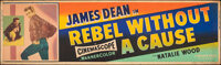 """Rebel Without a Cause (Warner Bros., 1955). Rolled, Fine. Silk Screen Banner (24"""" X 82""""). Drama"""