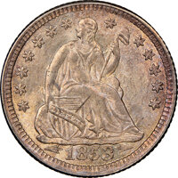 1853 H10C ARROWS MS65+ NGC. CAC. NGC Census: (73/57 and 1/2+). PCGS Population: (59/54 and 2/24+). CDN: $725 Whsle. Bid...