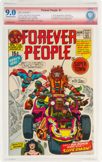The Forever People #1 Verified Signature: Jack Kirby (DC, 1971) CBCS VF/NM 9.0 Off-white to white pages
