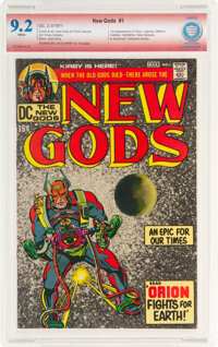 The New Gods #1 Verified Signature: Jack Kirby (DC, 1971) CBCS NM- 9.2 White pages
