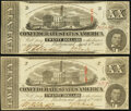 Confederate Notes:1863 Issues, T58 $20 1863 PF-4, PF-12, Cr. 418, Cr. 421 About Uncirculated.. ... (Total: 2 notes)
