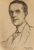 Works on Paper, Violet Oakley (American, 1874-1961). Portrait of Frank Llyod (Chief Interpreter to the League of Nations), 1928. Pencil ...